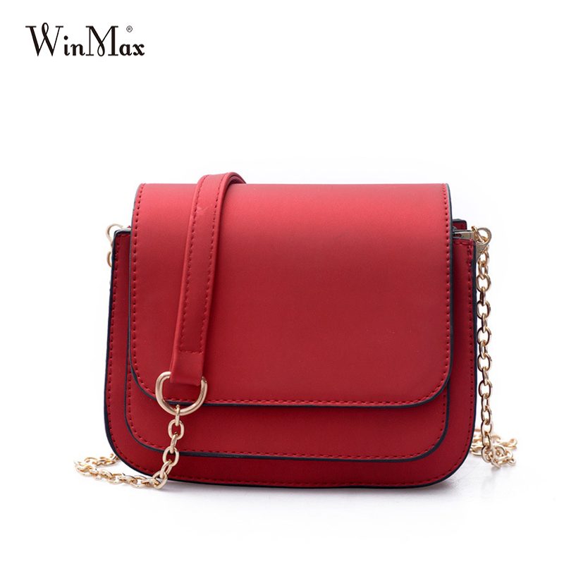 Winmax New Fashion Scrub Women Bag Leather Handbags Cross Body Shoulder Bags golden Messenger Bag Women Handbag Bolsas Feminina