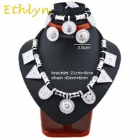 99a4dd25e550 Ethlyn Cute And New Ethiopian Jewelry Sets Silver Plated Rope Sets For  African Ethiopia Eritrean Women