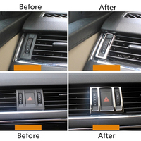 car air outlet For Skoda Octavia A7 ABS Chrome Car Instrument Desk Outlet Air Conditioning Outlet Trim Auto Accessories 3Pcs Car-Styling (4)