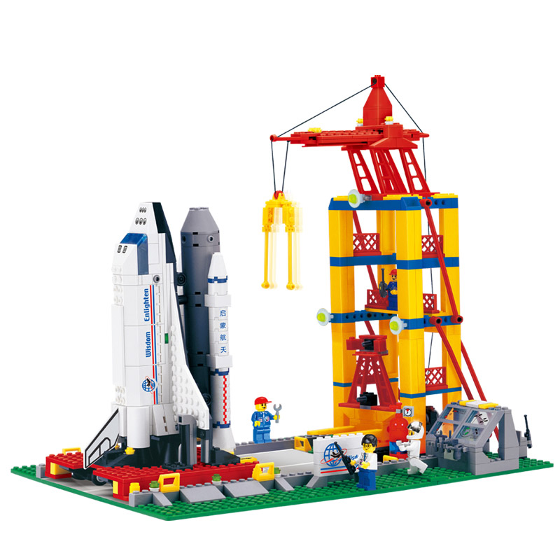 Building Blocks Space Shuttle Launch Base DIY Assembling Toys for Children Birthday Gift 584pcs 515 loz architecture space shuttle mini diamond nano building blocks toys loz space shuttle diy bricks action figure children toys
