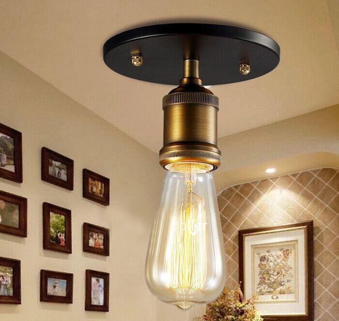 Loft Vintage Deckenleuchte E27 Eisen RH Deckenleuchten Edison Lampe Amerikanischen Stil Fr Kaffee Bar Restaurant Kche