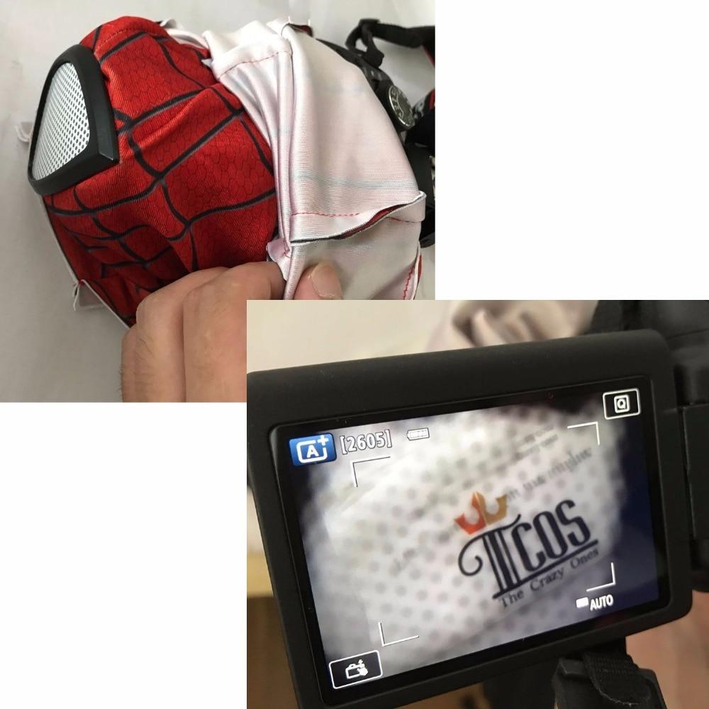 3D Spiderman Mask Linser Vuxen Unisex Halloween Tillbehör Masque - Maskeradkläder och utklädnad - Foto 5