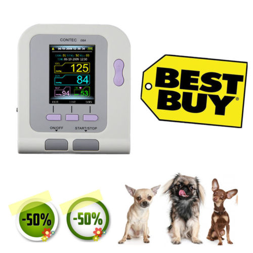 Vet Veterinary, OLED Digital Blood Pressure & Heart Beat Monitor NIBP CONTEC08A
