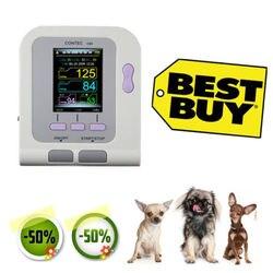 Veterinário veterinário, oled digital pressão arterial e monitor de batimento cardíaco nibp contac08a