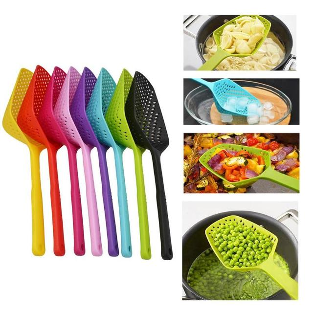 No-stick Plastic Drain Shovel Strainers Water Leaking Cooking Tool