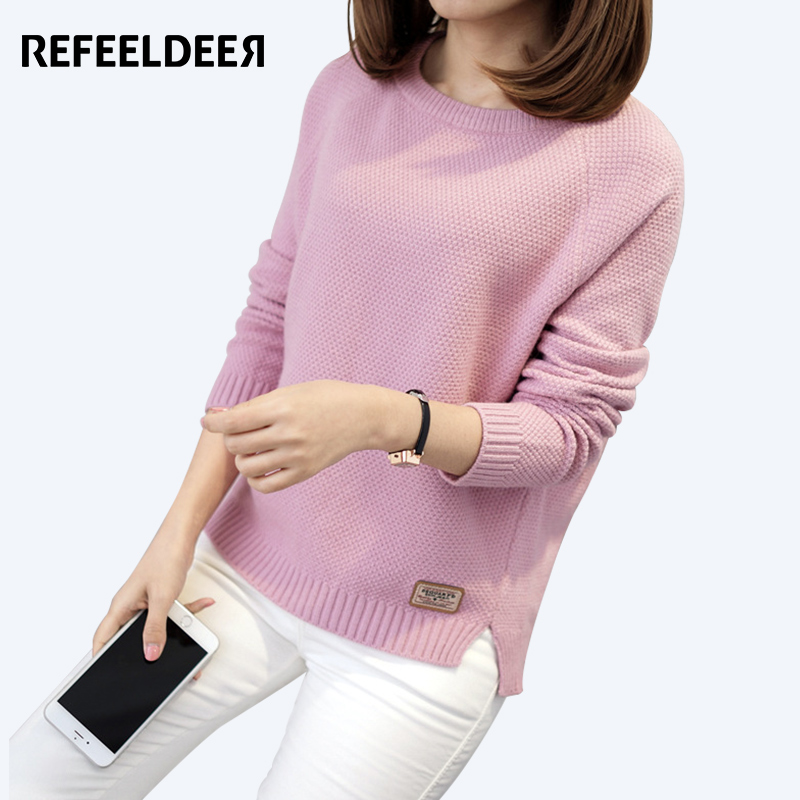 Refeeldeer Thick Warm Winter Sweater Women 2017 Knitted Pullover Female Jumper Tricot Pullover Women's Winter Tops Pull Femme
