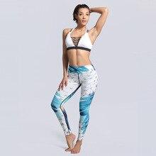 Women Fashion Fitness Legging Aztec Geometric Ombre Printing Sporting Leggins Slim High Waist Leggings Woman Workout Aor Pants