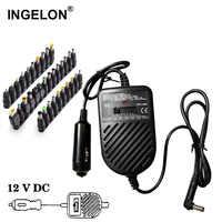 Ingelon portátil cargador Universal portátil 80W portátil 15 v-19 v a 24v adaptador de corriente ajustable cargador del ordenador portátil del coche lader