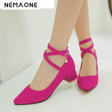 New British style women casual shoes med square heel ankle s