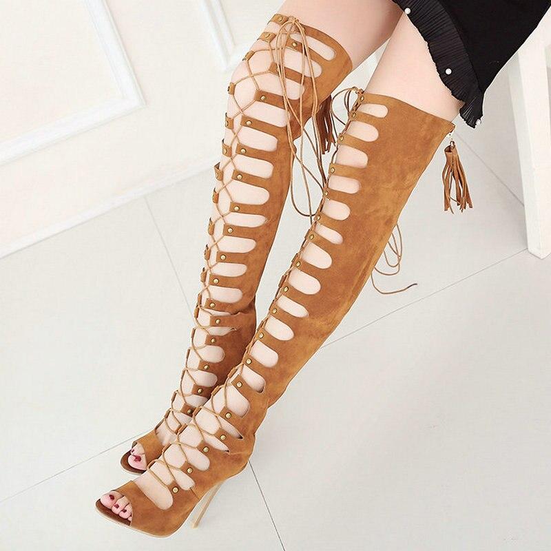 Online Get Cheap Gladiator Heels Knee High -Aliexpress.com