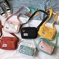 Südkorea ins Academy Mädchen Kontrast Messenger Tasche Weiblichen Studenten Kunst Kleine Frische Weiche Schwester Leinwand Tasche Crossbody-Taschen    -