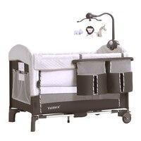 Детские кроватки Valdera Детские кровать для игр складной многоцелевой кровать для новорожденных переменной стол BB кроватки