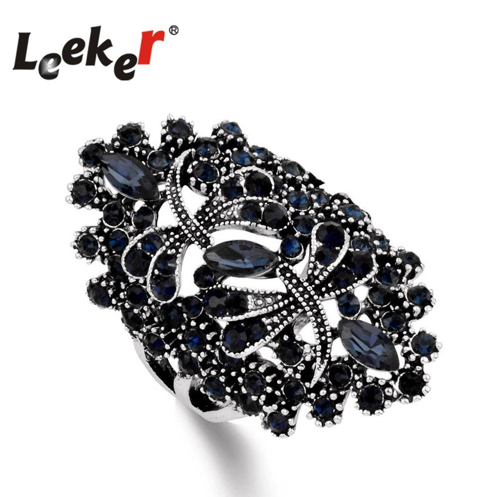 Hochzeits- & Verlobungs-schmuck Leeker Frauen Vintage Hohl Libelle Ringe Mit Shiny Dark Blue Zirkonia Weibliche Silber Farbe Tier Schmuck 93565 Lk1 Hohe Belastbarkeit