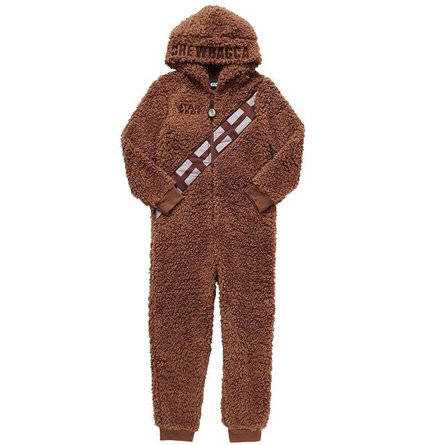 Star War Boys Chewbacca Hooded Pajamas Cosplay Coral Fleece Kids Autumn  Winter Warm Children Onesie Jumpsuit Sleepwear Costume ba93da7f5