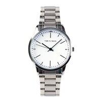Quarzuhr Links Reverse Moving Stahl Armband Wateproof Gegen Uhr Männer Mode Armbanduhr Männlichen Uhr-in Quarz-Uhren aus Uhren bei