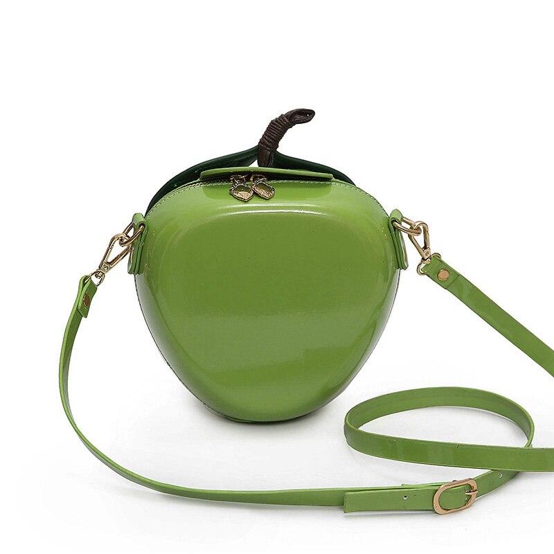 Рождественский подарок красный мешок яблок искусственная кожа мини Для женщин Курьерские сумки Сумки известный бренд Сумки на плечо Малый ...