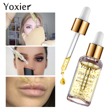 Yoxier макияж База увлажняющий Essence15ml лица 24 К к золото эликсир масла управление Professional Matte сыворотка бренд основа для макияжа лица праймеры