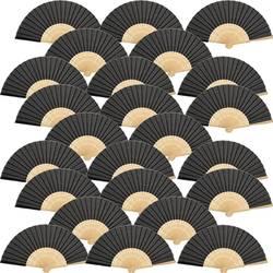 Ручные вентиляторы Шелковый Бамбук складной веер ручной складной вентилятор для церкви свадебный подарок, вечерние сувениры, Diy украшения