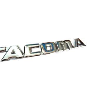 ABS Plastic Chrome TACOMA Auto Emblem Badge