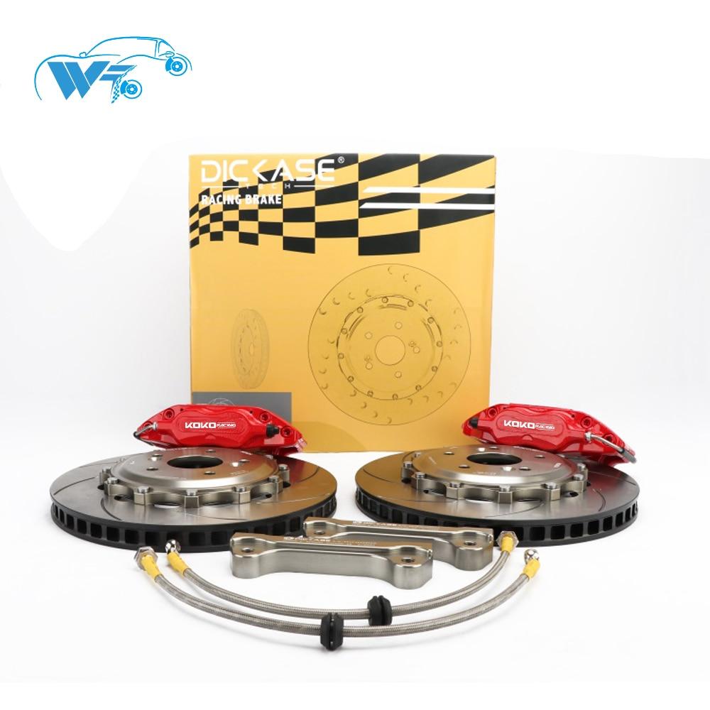 KOKO RACING using cars brake system red brake caliper 4 pot center bell bracket 55-85cm brake line for Toyota Fielder