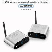 Measy 2 4GHz AV Adapter Wireless Audio Video Transmitter And Receiver 660 Feet 200m Range HDMI
