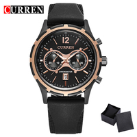 CURREN Casual Men Watch Top Luxury Watch Men Brand Silicone Band Fashion Watches Calendar Wristwatch 8066