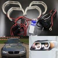 For BMW 1 Series E82 E88 E87 E81 2008 2011 Xenon headlight Car styling High Quality DTM Style White Crystal LED angel eyes