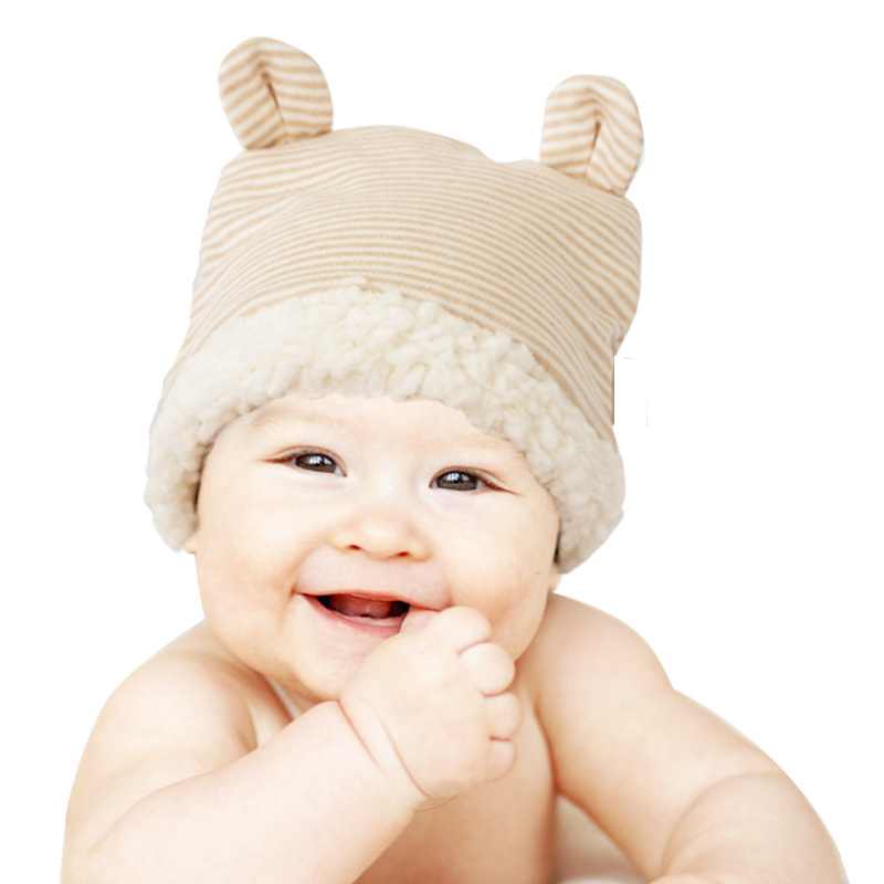 New Organic Cotton Baby Winter Hat For Girls Boys Newborn