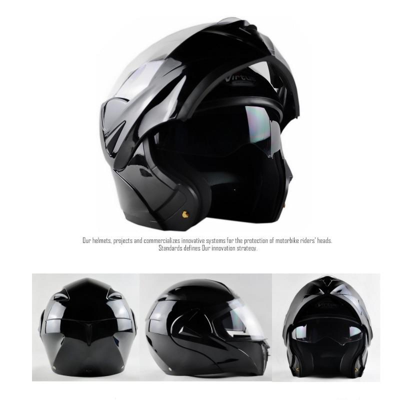 цена Adult Motorcycle Helmet Safety Helmet Flip Up with Inner Sun Visor Double Lens Dual Visor Racing Motocross Quad Dirt Bikeug