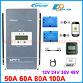 EPEVER MPPT Контроллер заряда для фотоэлектрических систем Tracer 100A 80A 60A 50A регулятор зарядного устройства панель солнечных батарей Tracer5415AN 5420AN 6415