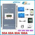 EPEVER MPPT controlador de carga Solar Tracer 100A 80A 60A 50A cargador de batería regulador Panel de células solares Tracer5415AN 5420AN 6415