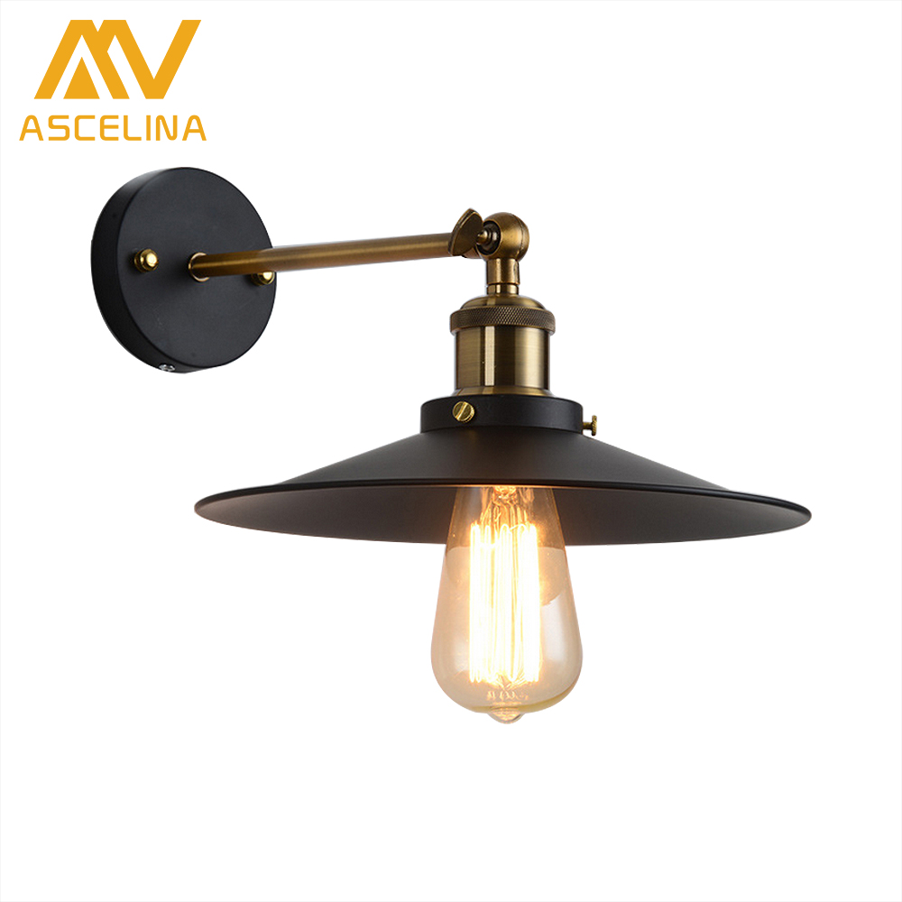ASCELINA Loft Wall Lamp sconce wall lights for home Industrial Vintage led bedroom light up down lighting stairs E27 85-260V free shipping vintage wall lamps garden lighting terrace wall sconce outdoor wall lights mediterranean bedroom wall lamp