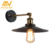 ASCELINA Loft Wall Lamp sconce wall lights for home Industrial Vintage led bedroom light up down lighting stairs E27 85-260V(China)