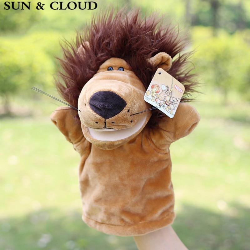 SUN & CLOUD 1 Pcs Plush Hand Puppets Pig Dog Frog Doll Parent child ...