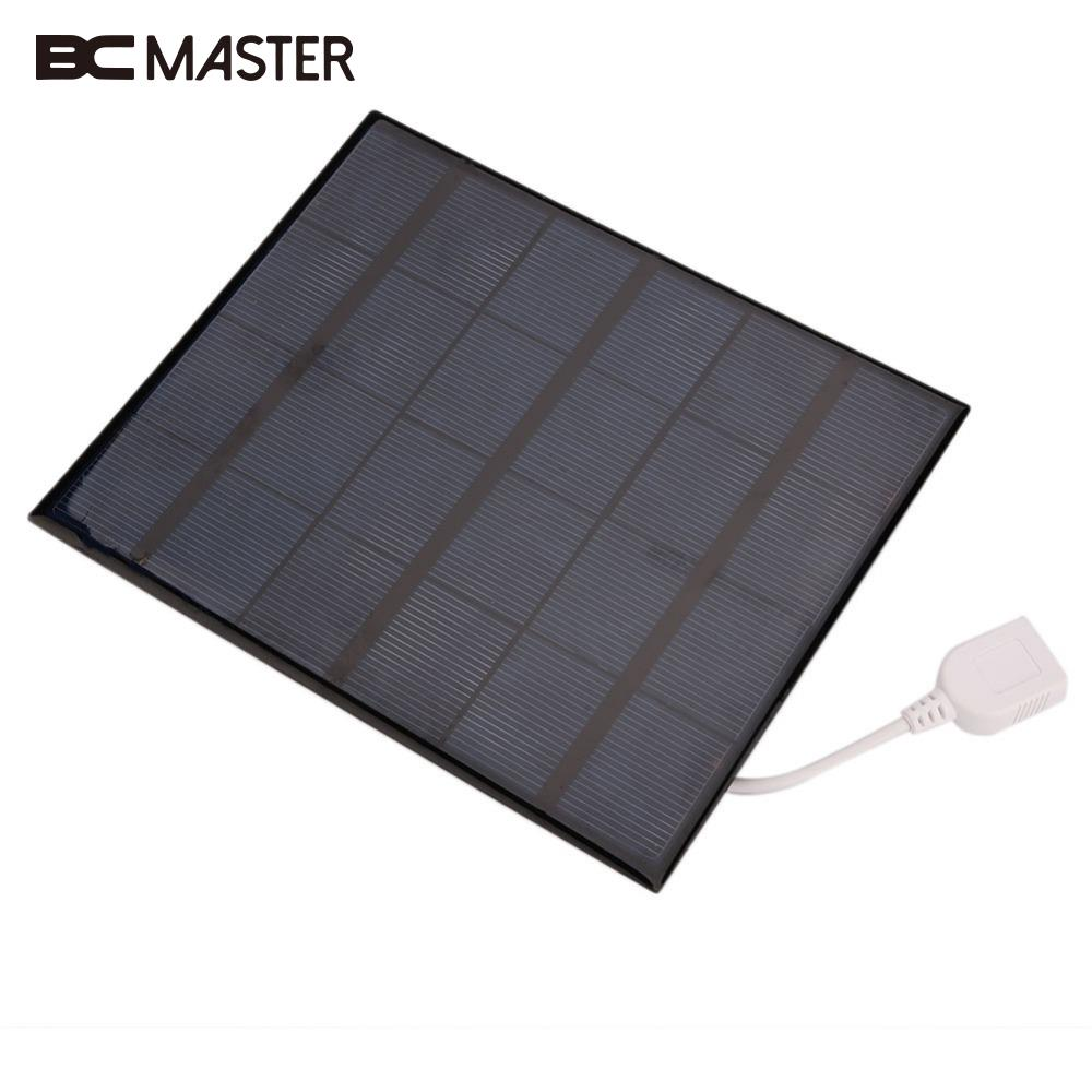 BCMaster USB Solar Power Panel Battery Home DIY 6V 3.6W Solar Panel Bank Charger for Android Mobile Phone Portable