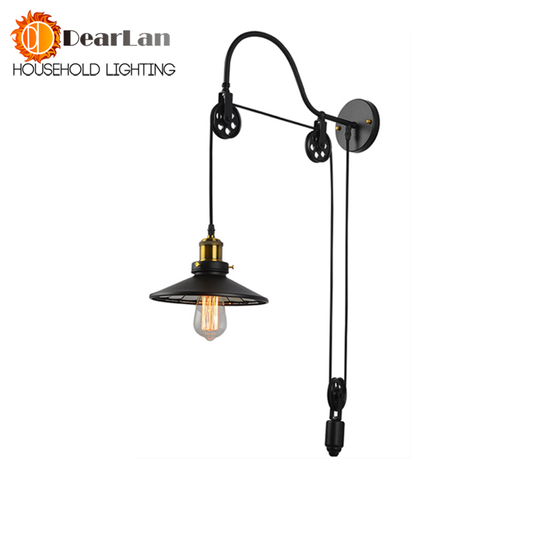 Iron Vintage American Up and Down Wall Lamp Modern Bedside Lamp Wall Lamp Birdie Pastoral Personality Free Shipping modern lamp trophy wall lamp wall lamp bed lighting bedside wall lamp