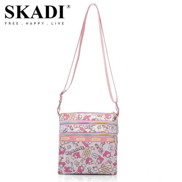 SKADI Women Messenger Bag Famous Brand Soft Handbags Russia bags Crossbody Handbag Candy Color Bolsos Mujer Floral Exotic