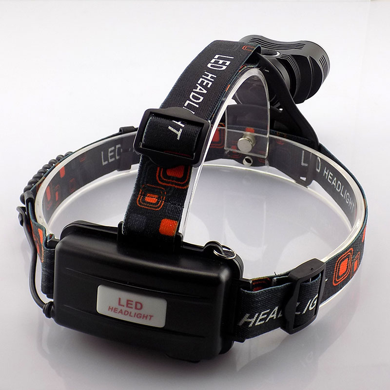 T6 Headlamp High Power Bright Head Light Lamps 4000 Lumens Headlight Frontal Flashlight with 18650 battery + AC charger