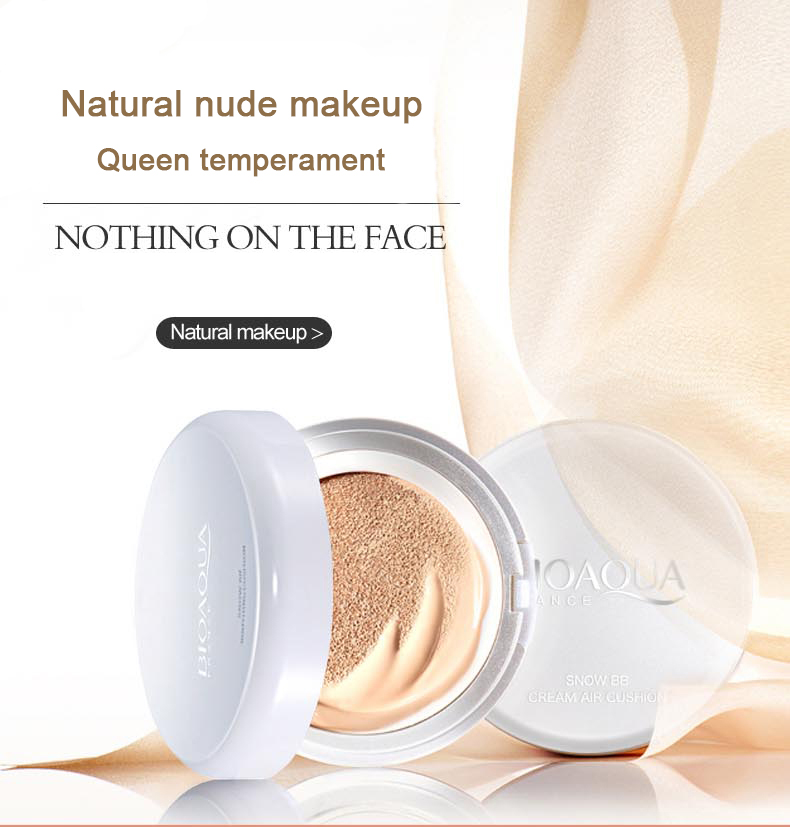 Skin color Bioaqua Air Cushion BB Cream Concealer Moisturizing Foundation Makeup Bare Strong Whitening Face Beauty