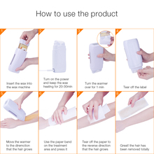 3 In 1 Depilatory Hair Removal Wax Wet Wax Strips For Hair Removal With Epilator Machine Cartridge Heater Waxing Paper Set (Copy)