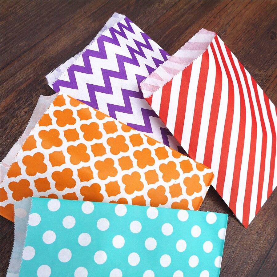 Promotion Paper Bags 5x7 Chevron Dot Stripe Horizontal