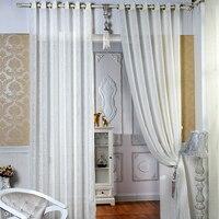 ホワイト シルク糸で新しい糸カーテン リビング ルーム寝室美しい野生通気性3色オプション サイズ 1 メートル