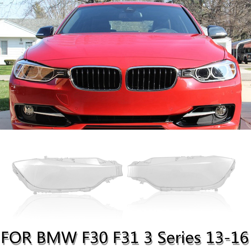 1Pair Front Left&Right Head Light Lamp Lens Light Cover For Bmw F30 F31 3 Series 2013-2016