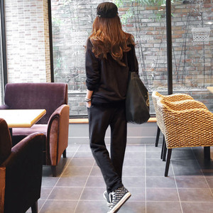 Image 2 - S 6XL Womens Sportswear Tracksuits Spring 2020 Autumn Winter Casual Plus Velvet Thick Sweatshirt + Pants Sets Female Plus Size