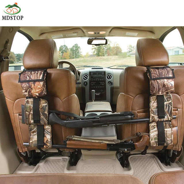 Camouflage Bag For Car Rear Seat Belt Gun Rack Travel Holster