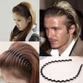 1PC/lot  New Mens Women Unisex Black Wavy Hair Accessories Head Hoop Band Sport Headband Hairband Hairpins Styling Tools