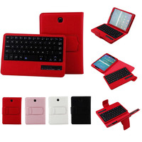 Ouhaobin Tablet Bluetooth Keyboards For Samsung T710 8Inch Slim Shell Stand Case Detachable Bluetooth Keyboard Cover 405#3