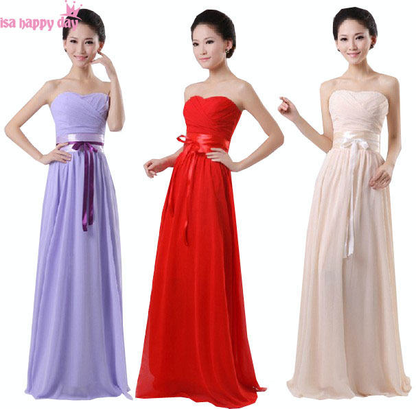 dress korean floor length long chiffon elegant formal dresses off ...
