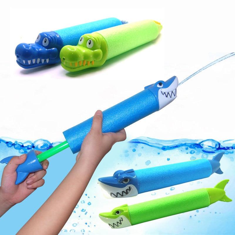 Summer Animal Head Water Guns Kids Toys Pistol Blaster Outdoor Games Swimming Pool Shark Crocodile Squirter Toys For Children