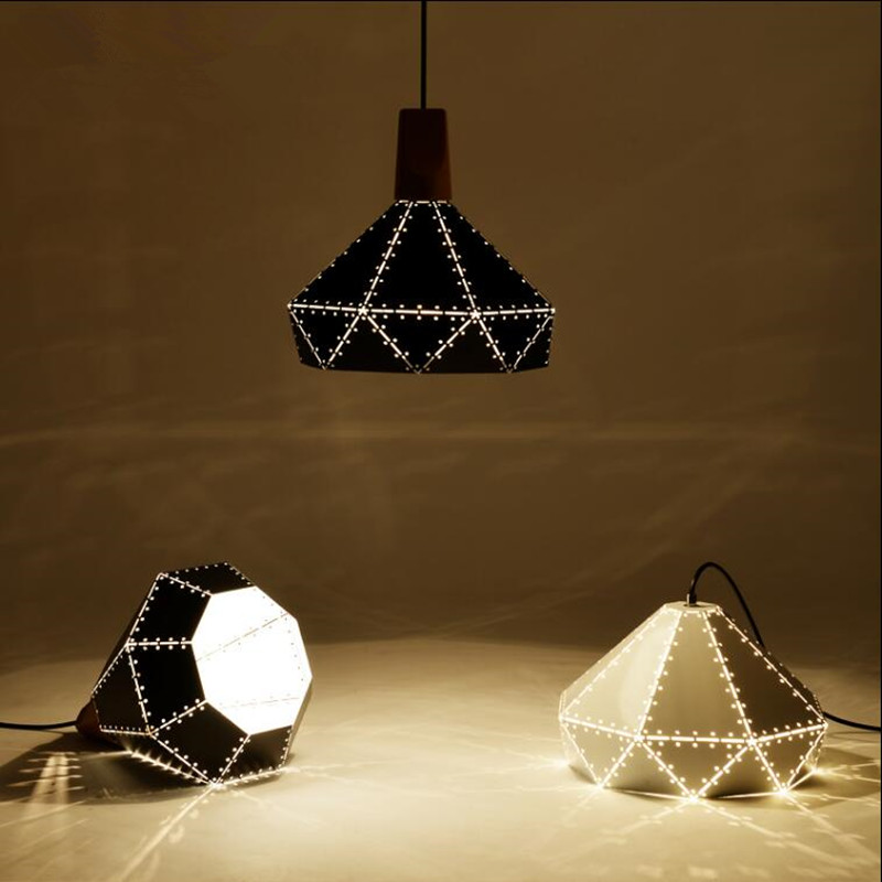 Фотография Modern LED pendant light  Engraving machine stamping iron sheet lampshade Hanging indoor sitting dining-room bar coffee lighting
